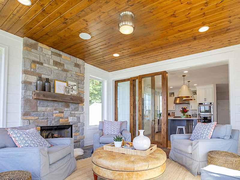 Custom lake michigan homes beach homes lakefront - Beach house interior design ...