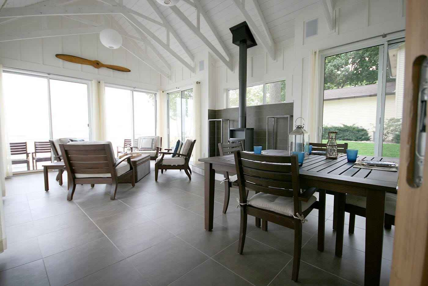 house interior finishes lake michigan custom