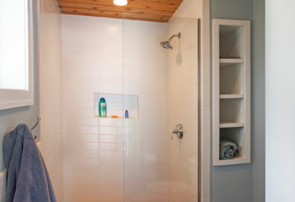 custom beach house shower