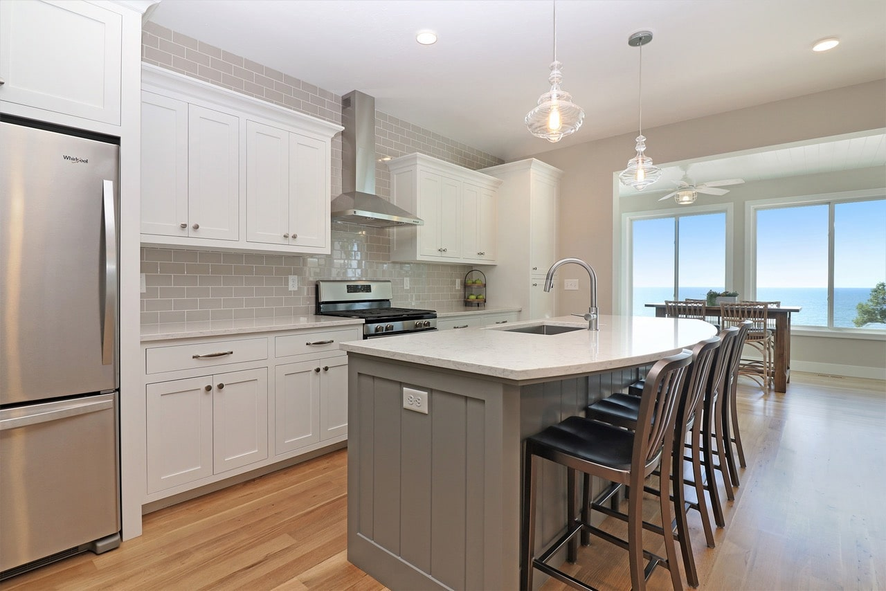 beach house kitchens and baths lake michigan lakefront homes
